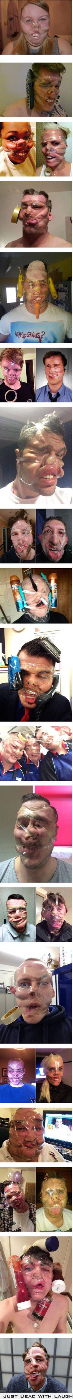World's Stupidest Scotch Tape #Selfies