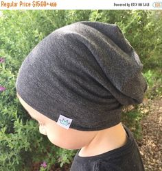 Baby slouchy beanie/ Toddler boy slouch beanie/ Gray hipster beanie/ Slouchy knit hat/ slouchy infant beanie