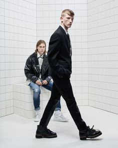Connor Newall & Kit Warrington Star in Just Cavalli Spring Campaign Connor Newall, The Fashionisto, Two Men, Colored Denim, Campaign, Women Wear, Poses, Mens Fashion, Manish