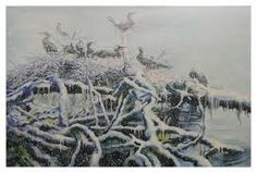 Afbeeldingsresultaat voor aalscholvers in de kunst