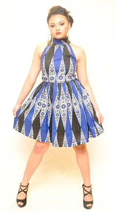 African Print Halter Dress by TabithaCreations on Etsy, $95.00