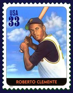 En segundo jugador de béisbol para ser presentado en un sello 17 de de agosto de, 1984 Nacido en Puerto Rico de Negro y la herencia hispana, Roberto Clemente fue el segundo jugador de béisbol que se ofrecerá en un sello en el día de hoy.