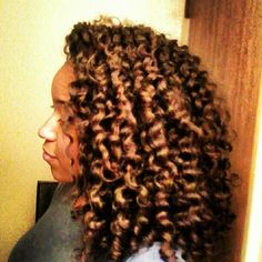 """Twist hair into small...um """"twisties""""? when hair is still wet. Let it dry over night and take out in the morning."""