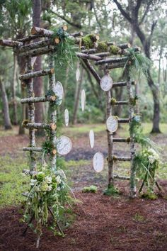 Top 60 Most Ethereal Redwood Forest Wedding Ideas--boho wedding backdrop with wood frame, fall and spring weddings, rustic wedding ideas. wedding arch Top 60 Most Ethereal Redwood Forest Wedding Ideas Wood Wedding Arches, Wedding Arch Rustic, Wedding Ceremony Arch, Rustic Arbor, Diy Wedding Arbor, Diy Wedding Trellis, Rustic Fence, Church Ceremony, Wedding Ceremonies