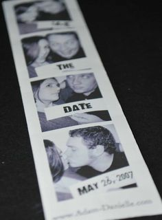 Save the date photo booth strip