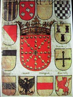 Antiguo escudo de Armas del Reino de Navarra Love's Labour's Lost, Pot Holders, Hot Pads, Potholders, Planters