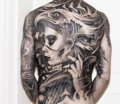Back tattoo by Victor Portugal