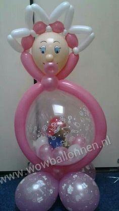 Kado in ballon baby