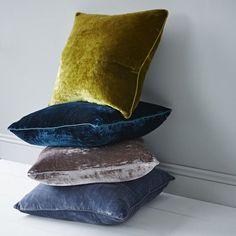 Rigby & Mac Luxury Velvet Cushions Kiwi - Trouva