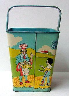 Vintage J Chein Litho Tin Toy Sand Pail   eBay