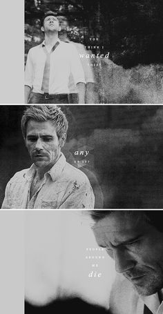 Constantine: You think I wanted this? Any of it? People around me die.