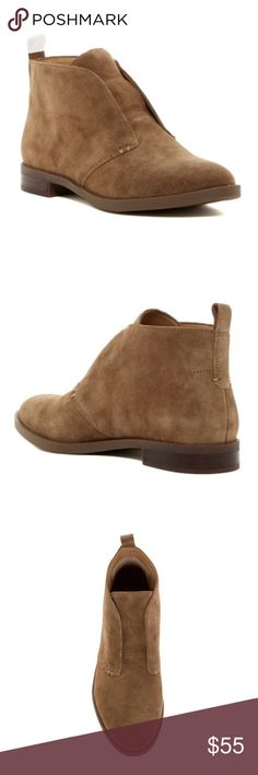 "Chukka Ankle Boot Brand new never worn.  Sizing: True to size. M=standard width, W=wide width  - Round toe - Lace-less pull-on - Back pull-tab - Lightly padded footbed - Approx. 4"" shaft height, 11"" opening circumference - Approx. 1"" heel - Imported Materials Suede upper, manmade sole Franco Sarto Shoes Ankle Boots & Booties"