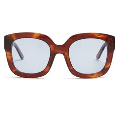 Kaleos Leeloo square-frame sunglasses (11.405 RUB) ❤ liked on Polyvore featuring accessories, eyewear, sunglasses, tortoiseshell, blue lens sunglasses, tortoise shell glasses, square frame sunglasses, brown sunglasses and brown oversized sunglasses