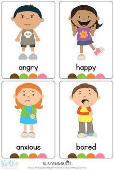 Emotions Full Body Flash Cards A brand new set of full body emotions flash cards! There are 16 flash cards in this set. Emotions Preschool, Teaching Emotions, Social Emotional Learning, Teaching Kids, Kids Learning, Emotions Activities, Feelings Chart, Feelings And Emotions, Learning Tools