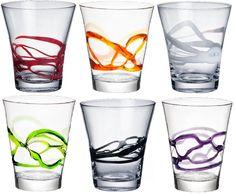 Bormioli Rocco Ceralacca Tumblers Glasses - 385ml - 13oz - Multi Coloured - Set