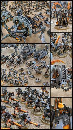 Necron Paint Scheme Warhammer 40k Necrons, Warhammer 40k Tyranids, Warhammer 40k Figures, Warhammer Paint, Warhammer 40k Miniatures, Eldar 40k, Sci Fi Models, Cool Lego Creations, Lego Design