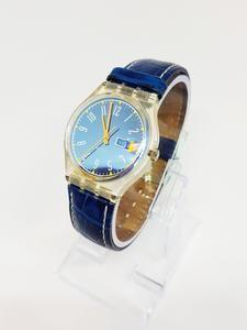 BLUE LACQUER GK713 Vintage Swatch Watch   Metallic Blue Watch – Vintage Radar