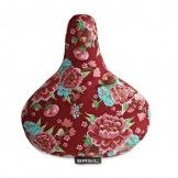 Basil Bloom Saddle Cover Red