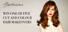 YOUMail and Hershesons are offering you the chance to get a total hair makeover with one of five cut and colour appointment sessions at their recently opened salon in London's Fitzrovia in a prize worth up to Cut And Color, Salons, Competition, Hair Color, How To Get, Colour, T Shirts For Women, London, Haircolor