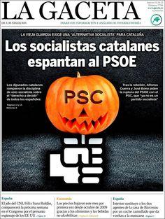 Los Titulares y Portadas de Noticias Destacadas Españolas del 31 de Octubre de 2013 del Diario La Gaceta ¿Que le pareció esta Portada de este Diario Español?