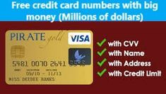 credit card number and cvv2 code free