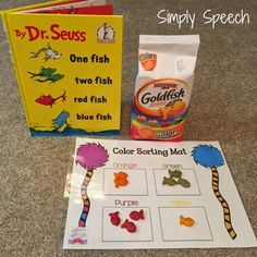 Speechie Freebies: Celebrating Dr. Seuss with Color Sorting! Pinned by SOS Inc. Resources. Follow all our boards at pinterest.com/sostherapy/ for therapy resources.