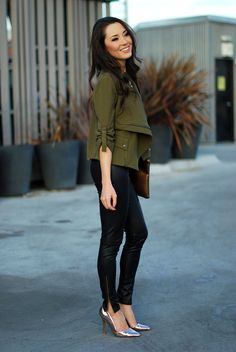 Hapa Time - a California fashion blog by Jessica - new fashion style - 2014 fashion trends: Olive My Jacket