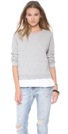 ruffled sweatshirt / clu