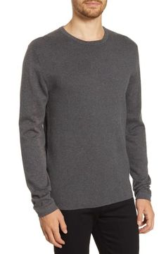 French Connection Milano Regular Fit Crewneck Sweater In Black Crewneck Sweater, Men Sweater, Pullover, Casual Outfits, Men Casual, French Connection, Black Sweaters, Large Black, Crew Neck