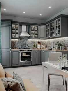 86 creative grey kitchen cabinet ideas for your kitchen 39 Modern Kitchen Cabinets Cabinet Creative Grey Ideas Kitchen Grey Kitchen Designs, Kitchen Room Design, Kitchen Cabinet Design, Home Decor Kitchen, Interior Design Kitchen, Home Design, Kitchen Ideas, Design Ideas, Kitchen Inspiration