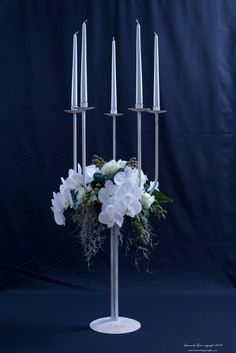 Candelabra, hight centrepieces with orchid and candles