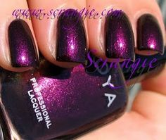 Gem - Zoya - Smoke and Mirrors collection - A deep purple with bright, shiny duochrome shimmer
