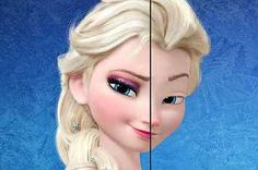 This Is What Disney Princesses Look Like Without Makeup. Elsa and snow white look so scary Walt Disney, Disney Girls, Disney Love, Disney Magic, Disney Stuff, Disney And Dreamworks, Disney Pixar, Disney Characters, Fictional Characters