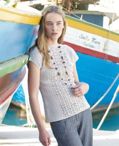 Free crochet pattern - Corfu by Marie Wallin in Rowan Siena 4 Ply: http://www.mcadirect.com/shop/rowan-siena-ply-100-cotton-p-2563.html
