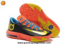 Black Orange Yellow Nike Zoom KD 6