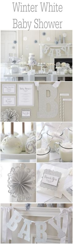 Ideas for an all white winter baby shower
