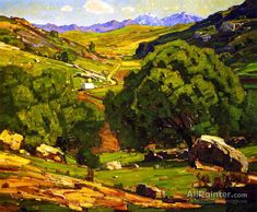 William Wendt The Field Road Oil Painting Reproductions for sale Landscape Art, Landscape Paintings, Art Transportation, Paint Prices, Oil Painting Reproductions, Traditional Paintings, Oil Painting On Canvas, Cool Pictures, Scenery