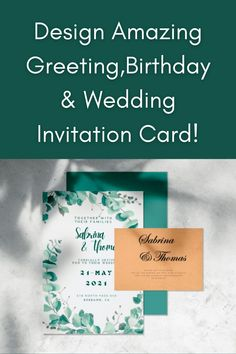Design: ♦greeting card, birthday card, wedding card.... ♦Save the date card, any invitation card of your choice... ♦Christmas card, Any event card! Card Wedding, Wedding Invitation Cards, Card Birthday, Save The Date Cards, Invitation Design, Christmas Cards, Greeting Cards, Lifestyle, Amazing
