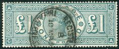 1 Pd. Queen Victoria 1891, with Wz11 ., clean and nice used, good perforated, extremely fine copy this difficult stamp.