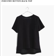 Industry button back top Madewell too in black. I got the wrong size and I can't return it. Brand new. Madewell Tops