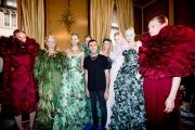 Vogue's View: Behind the Scenes at Paris Fall 2012 Couture - Giambatista Valli and models.