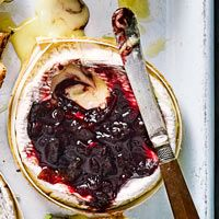 Discover five baked camembert topping ideas from Good Food, perfect for a Christmas party buffet, cheese course or festive dinner party starter. Camembert Recipes, Baked Camembert, Red Onion Chutney, Dinner Party Starters, Party Buffet, Mulled Wine, Good Food, Baking, Breakfast