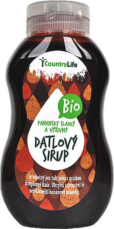 Datľový sirup BIO Sauce Bottle, Soy Sauce, Food, Syrup, Meal, Essen, Soy Candle, Hoods, Meals