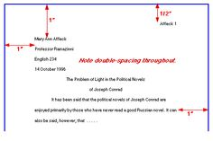 mla rules termpaper