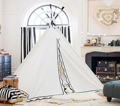 black and white tee pee kids tent