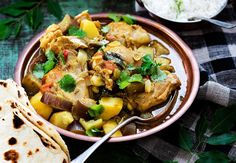 Recipes Nz Chicken Curry Prep: 10 minsChicken and potato curry – Recipes – Bite - recipes nz chicken curry Chicken And Potato Curry, Chicken Potatoes, Fijian Food, Indian Food Recipes, Ethnic Recipes, Fijian Recipes, Sushi Lunch, Masala Spice, Stuffed Baked Potatoes