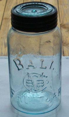 The first Ball jar dated How I live to find one 😂 Old Glass Bottles, Antique Bottles, Vintage Bottles, Bottles And Jars, Antique Glass, Vintage Glassware, Vintage Perfume, Perfume Bottles, Vintage Mason Jars