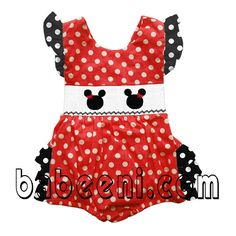 Minnie hand-smock ruffle bubble - DR 990