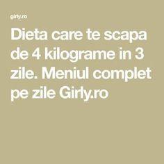 Dieta care te scapa de 4 kilograme in 3 zile. Girly, Math Equations, Women's, Girly Girl