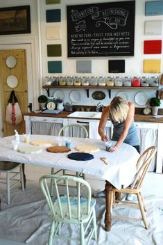 A Milk Paint Workshop with The Ironstone Nest | Miss Mustard Seeds Milk Paint